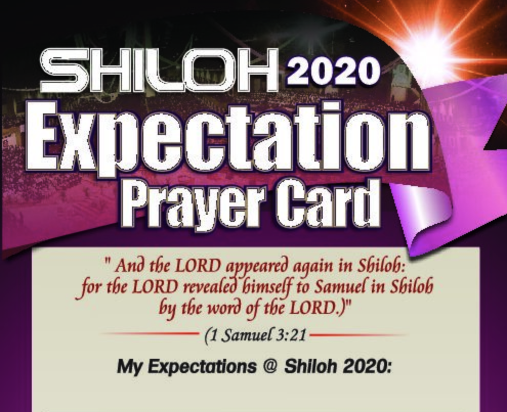 Shiloh Expectation Card