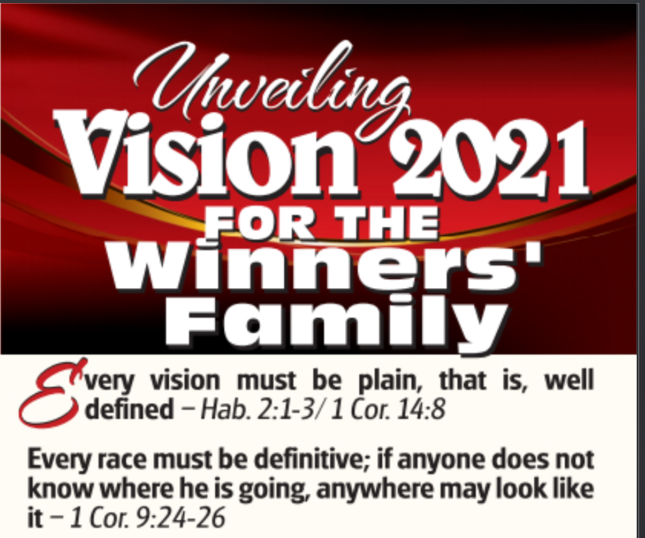 Unveiling Vision 2021 For The Winners Family